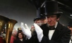 A re-enactor portraying former US President Abraham Lincoln