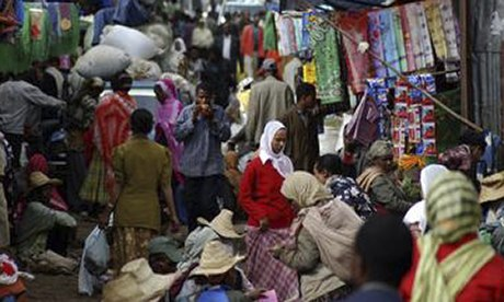 Merkato market in Addis Ababa, Ethiopia