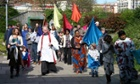 church procession people
