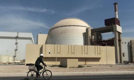 The Bushehr nuclear power plant.