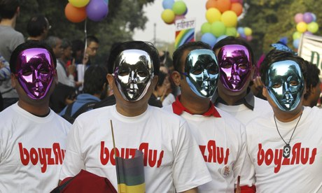 Gay protest in Delhi