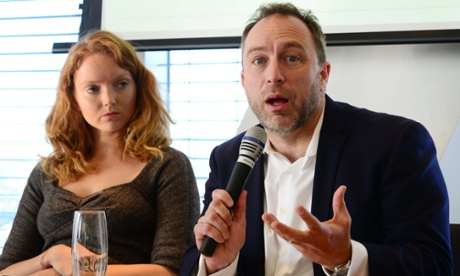 Jimmy Wales with Lily Cole.