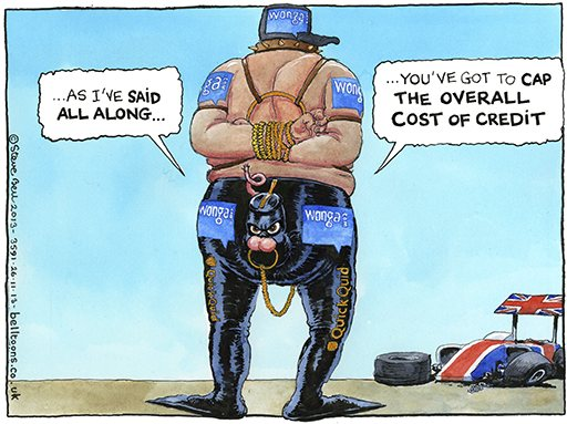 Payday Loan Cartoon Steve Bell on The Payday Loan