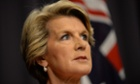Foreign Minister Julie Bishop  in Canberra.