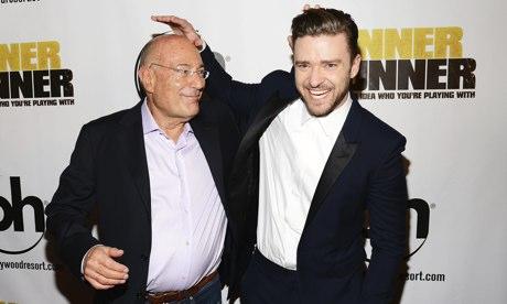 Arnon Milchan and Justin Timberlake