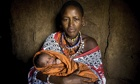 A mother and newborn baby in Kenya