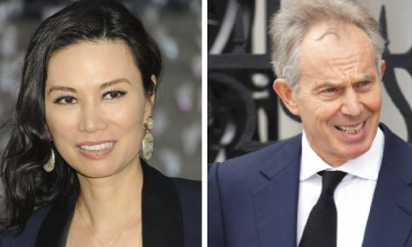 Wendi Deng and Tony Blair: it was God calling.