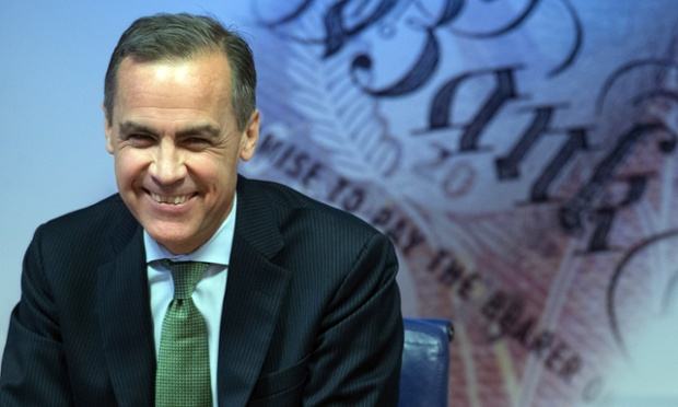 Governor of the Bank of England Mark Carney delivers this year's half yearly Financial Stability Report to journalists at the Bank of England on 28 November 28. 2013 in London, England.