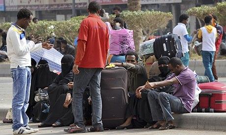 Os trabalhadores estrangeiros em Riyadh