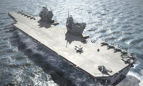 Navy's new aircraft carrier (a computer generated image)
