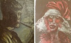 Two paintings by the German artist Otto Dix, including a self-portrait
