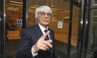 Bernie Ecclestone arrives at the Rolls Building in London
