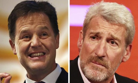 Nick Clegg and Jeremy Paxman