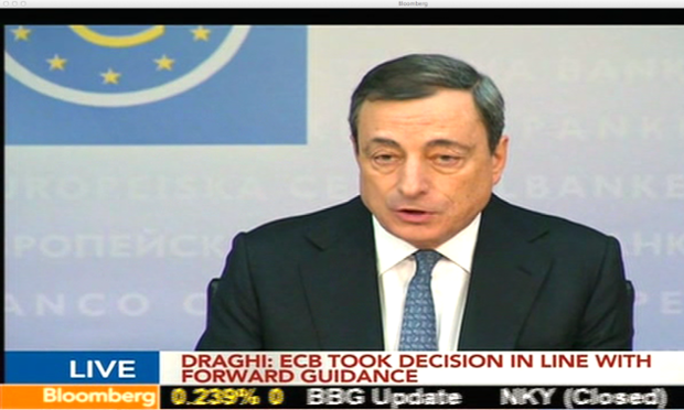 Mario Draghi at the ECB press conference, November 2013