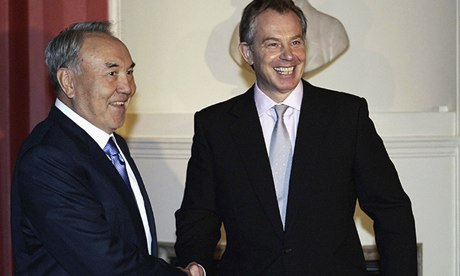 Nursultan Nazarbayev Tony Blair London