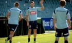 Sydney FC's Brett Emerton takes part in a training session at Allianz Stadium ahead of the game against Melbourne Victory.