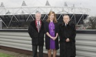 West Ham vice-chair Karren Brady flanked by co-chairmen David Gold (left) and David Sullivan