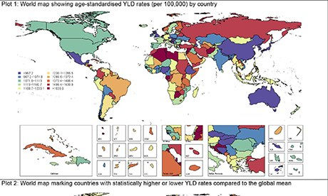 Depressive disorders by country