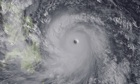 Satellite image of typhoon Haiyan 7/11/13