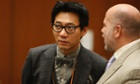 Young Lee, one of the former founders of the Pinkberry yogurt chain, during his arraignment