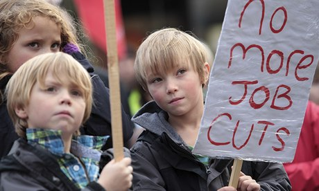 Children at a protest against the closure of Portsmouth's docks