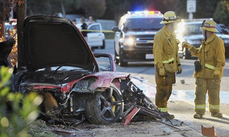 Paul Walker car crash scene