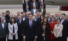 David Cameron with China delegation