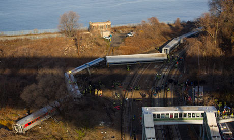 Four dead and 63 injured in Bronx passenger train derailment