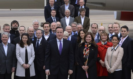 David Cameron with China delegation