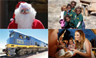 The Indian Pacific outback Christmas train