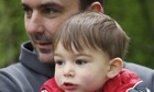Good to meet you …. Matthew Batt with his son Frank