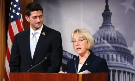 Senate Budget Committee chairman Senator Patty Murray (D-WA), right, and House Budget Committee chairman Representative
