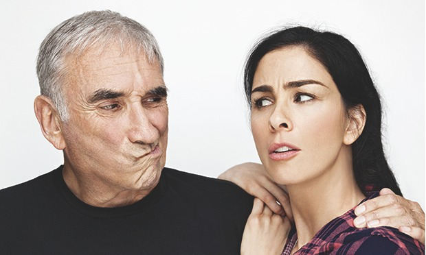 Photo of Sarah Silverman & her Father  Donald Silverman