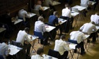 Pupils sit a GCSE exam