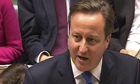 David Cameron in parliament 11/12/13