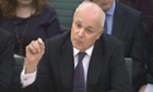 Work and Pensions Secretary Iain Duncan Smith answers Select Committee questions on the annual report and accounts of his department.