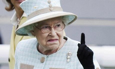 Hands off the Queen s bombay Queen Elizabeth