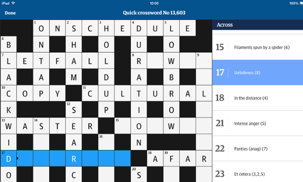 crosswords the guardian share the knownledge