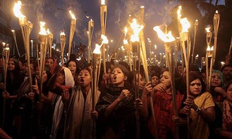 Protest rally in Dhaka, Bangladesh