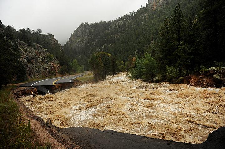 Extreme weather: Major flooding near Lyons, Co.