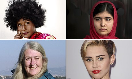 Guardian Women awards 2013: from Miley to Malala We round up the highs and lows for women this year, with awards for 2013's feminist heroines – and brickbats for the villains