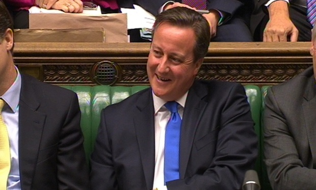 David Cameron during PMQs last week.