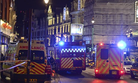 Apollo theatre balcony collapses in London...
