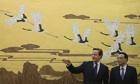 Chinese premier Li Keqiang meets British prime minister David Cameron