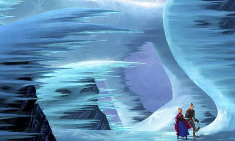 Frozen cartoon wintry landscape