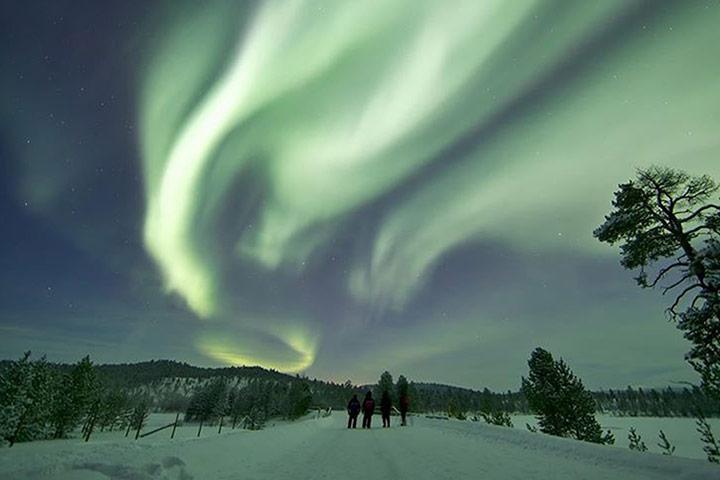 大气磅礴令人为之侧目的北极光 - 月落台阁 - 月落台阁