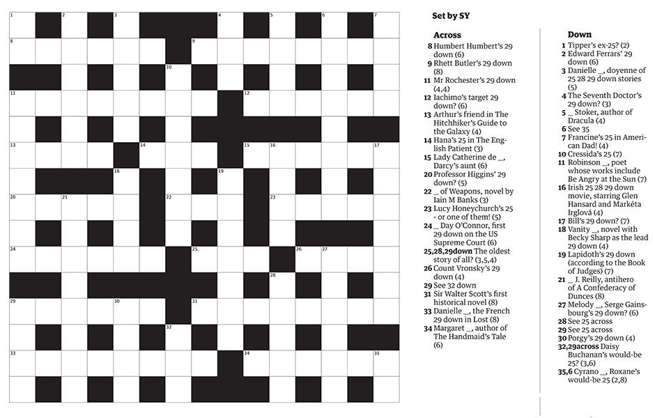 Click here to download this crossword as a PDF  sc 1 st  The Guardian & Literary loversu0027 special review crossword | Culture | The Guardian 25forcollege.com