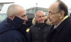 Mikhail Khodorkovsky welcomed by Hans-Dietrich Genscher upon arrival in Berlin