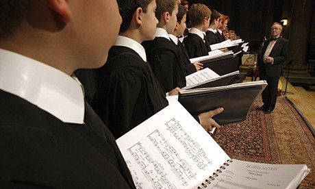 King's College choir rehearsal