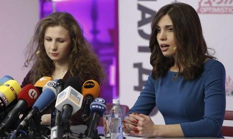 Освобожденные члены Pussy Riot говорят, что все еще хотят прогнать Владимира Путина